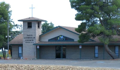 Exterior of the Faith Lutheran Church and Hilltop Christian Preschool in Cottonwood Arizona